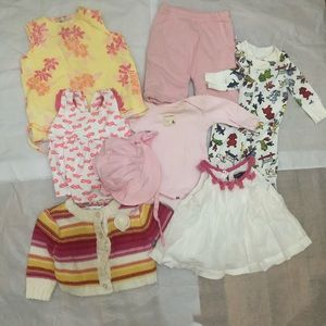20 Piece Baby Girl Lot sizes 0-12 months
